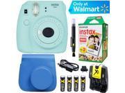 Fujifilm Instax Mini 9 Instant Camera  (Ice Blue) + Blue Case + 20pk Film Kit