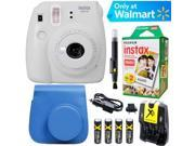Fujifilm Instax Mini 9 Instant Camera  (Smokey White) + Blue Case + 20 pk Film Kit