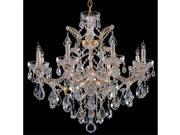Maria Theresa Collection 4409 GD CL SAQ Maria Theresa Chandelier Draped in Swarovski Spectra Crystal