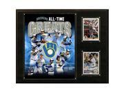 Image of CandICollectables 1215BREWERSGR MLB 12 x 15 in. Milwaukee Brewers All-Time Greats Photo Plaque
