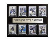 CandICollectables 1215SB47BR8C NFL 12 x 15 in. Baltimore Ravens Super Bowl XLVII 8-Card Plaque 9SIA00Y51U4642