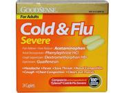 Good Sense Cold Head Cong Plus Pain Severe Daytime Cool Ice Caplets 24 Count Case of 24