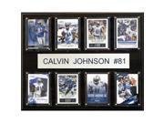 CandICollectables 1215CALVINJ8C NFL 12 x 15 in. Calvin Johnson Detroit Lions 8-Card Plaque 9SIA00Y51U4253