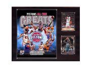 CandICollectables 1215PISTONSGR NBA 12 x 15 in. Detroit Pistons All time Great Photo Plaque