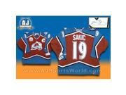 AJ Sports World SAKJ166000 Joe Sakic Autographed Colorado Avalanche 2001 Stanley Cup Retro CCM Jersey 9SIA00Y51U1234