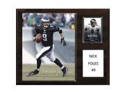 CandICollectables 1215FOLES NFL 12 x 15 in. Nick Foles Philadelphia Eagles Player Plaque 9SIA00Y51U6183