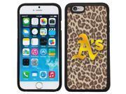 Coveroo 875 8517 BK FBC Oakland Athletics Leopard Print Design on iPhone 6 6s Guardian Case