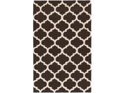 Image of Artistic Weavers AWAH2029-35 Pollack Stella Rectangle Hand Tufted Area Rug, Brown & White - 3 x 5 ft.