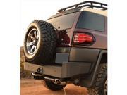 BODY ARMOR FJ2961 Steel Rear Bumper For Toyota Fj Cruiser Black