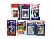 MLB Cleveland Indians 7 Different Licensed Trading Card Team Sets