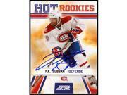 AJ Sports World SUBP105090 2010-11 Score P.K. Subban Autographed Rookie Card - Montreal Canadiens 9SIAC564ZT4517