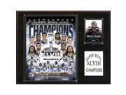 CandICollectables 1215SB48 NFL 12 x 15 in. Seattle Seahawks Super Bowl XLVIII Champions Plaque 9SIA00Y51U4055