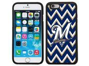 Coveroo 875 9235 BK FBC Milwaukee Brewers Sketchy Chevron Design on iPhone 6 6s Guardian Case