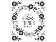 Roommates RMK3237GM Floral Wreath Quote with Embellishments Peel & Stick Giant Wall Decals, Black 9SIAC564ZW4059