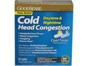 Good Sense Cold Head Congestion Daytime Nightime Combo Caplets Pack 20 Count Case of 24