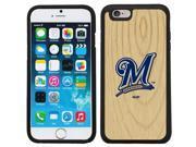 Coveroo 875 9936 BK FBC Milwaukee Brewers Wood Emblem Design on iPhone 6 6s Guardian Case