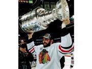 Nick Leddy Signed Blackhawks 2013 Stanley Cup Trophy 8 x 10 Photo with 2013 SC Champs 9SIAC564ZU9743