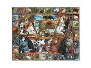 White Mountain Puzzles World of Cats Puzzle 9SIAC565055969