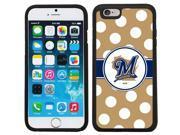 Coveroo 875 6724 BK FBC Milwaukee Brewers Polka Dots Design on iPhone 6 6s Guardian Case