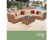 TKC Laguna 7 Piece Outdoor Wicker Patio Furniture Set