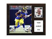 CandICollectables 1215GURLEY NFL 12 x 15 in. Todd Gurley St. Louis Rams Player Plaque 9SIA00Y51U1640