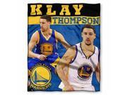 Northwest NOR-1PLY575002018RET Golden State Warriors NBA Klay Thompson Silk Touch Throw, 50 x 60 in. 9SIAC564ZG9123