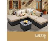 TKC Barbados 6 Piece Outdoor Wicker Patio Furniture Set