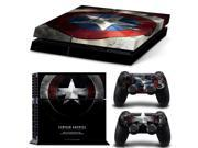 Captain America Sticker Skin Decal with 2Pcs Controller Skin Decal Decoration Protective Skin For Sony Playstation PS4 Console 9SIAC5C5409774