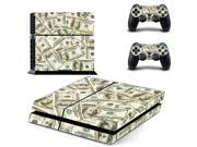 Dollar bills pattern Game Protective Skin Sticker for Sony PS4 PlayStation 4 and 2 controller skins PS4 Stickers 9SIV10D5MZ1145