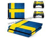 Sweden National Flag sticker for ps4 console skin for ps4 controller decal
