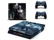 PS4 The Witcher Wild Hunt Skin Sticker Decals Designed for PlayStation4 Console and 2 controller skins