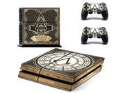 Assassins Creed Game Protective Decor Skin Sticker for SONY Playstation 4 Console + 2PCS Controle Decal Stickers For PS4 9SIV10D5MY9532