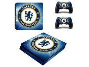 Chelsea Football Club PS4 Slim Skin Sticker Decal Vinyl For Sony PS4 PlayStation 4 Slim Console and 2 Controllers Stickers