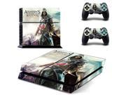 Assassin's Creed IV Black Flag PS4 Skin Sticker Decal For Sony PS4 PlayStation 4 Console and 2 Controllers Stickers 9SIV10D5MY9881