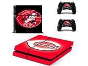 MLB Cincinnati Reds PS4 Skin Sticker Decal Vinyl For Sony PS4 PlayStation 4 Console and 2 Controllers Stickers