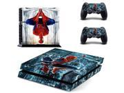 Marvel Spider-man PS4 Skin Sticker Decal For Sony PS4 PlayStation 4 Console and 2 Controllers Stickers 9SIV10D5MY8751
