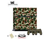Fashion Cool Supreme Bape Camo Pattern Protective Skin Decal Sticker For Sony PS4 Playstation 4 Console 2 Controller 9SIV10D5MY9094