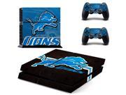 NFL Detroit Lions PS4 Skin Sticker Decal Vinyl For Sony PS4 PlayStation 4 Console and 2 Controllers Stickers