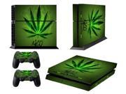 Front&Back PVC Skin Sticker dustproof waterproof Protection Decor Cover For Playstation 4 PS4 Controller PS 4-Green Leaf Pattern 9SIV10D5MY9897