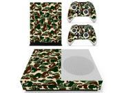 Army Green Vinly Skin Decal Cover for Xbox One S Console Skin Sticker For Xbox One Slim Controllers Skins 9SIAC5C5GR2437