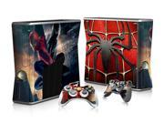 Spider-Man Style Customized Vinyl Skin Stickers For Xbox 360 Slim Console+ 2 Controllers Skin Cover Decal 9SIV10D5MZ2026