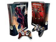 Spider-Man Design Vinyl Decal Skin Sticker For Xbox 360 Fat Game Console + 2PCS Controller Skin Stickers 9SIAC5C5GR2905