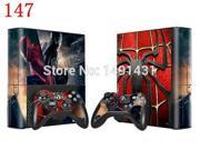 Spiderman Design Vinyl Protector Skin Sticker For Xbox 360 E Console and Controller Skin Decals 9SIV10D5MZ1442