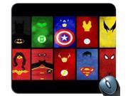 "Superhero's United Superman SPiderman Batman Mouse Pad 8"""" x 9"""""" 9SIA6HT5YG4356"