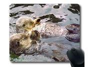 Sea Otters Holding Hands Personalized Style (042413) Custom Oblong Gaming Mousepad Standard Size 0mm*3mm Mouse Pad 8