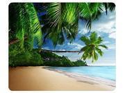 Tropical Landscape Palm Trees Sunshine Beach Coast Sea Sky Blue Mousepad,Custom Rectangular Mouse Pad 9