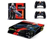 OverWatch Soldier:76 decal for PS4 PlayStation 4 console and 2 controllers