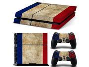 blue red and white three color sticker for PS4 console and 2 controllers skin sticker decals covers #TN-PS4-10167
