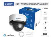 4MP IP Dome Security Camera, 4x Zoom, PoE , Wide Angle 2.8mm Lens, WDR, IR Nightvision 100ft, IK10, IP66, records to an NVR Onvif, Smart Detection, Alerts, PC M