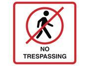 4 Pack - Aluminum No Trespassing Print No Person Walking Picture Red White Black Window Home Office Business S, 12x12